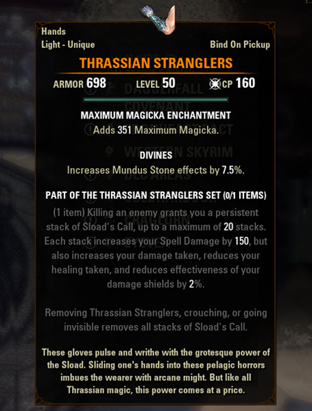 eso mythic gear antiquities thrassian stranglers greymoor