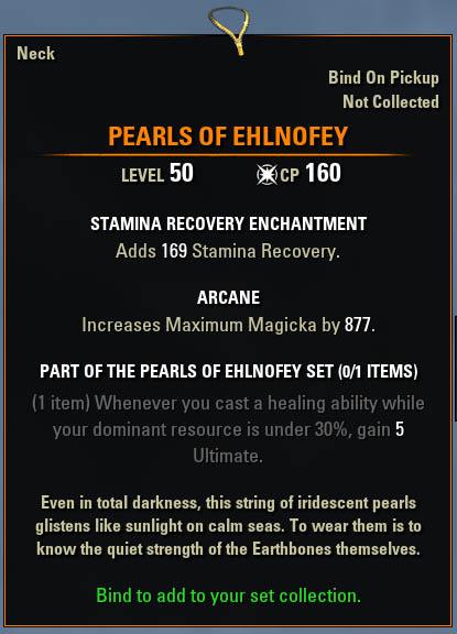 ESO Pearls of Ehlnofey Mythic Item Leads