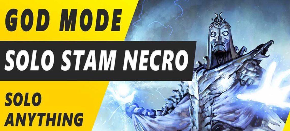 Solo Stamina Necromancer Build ESO